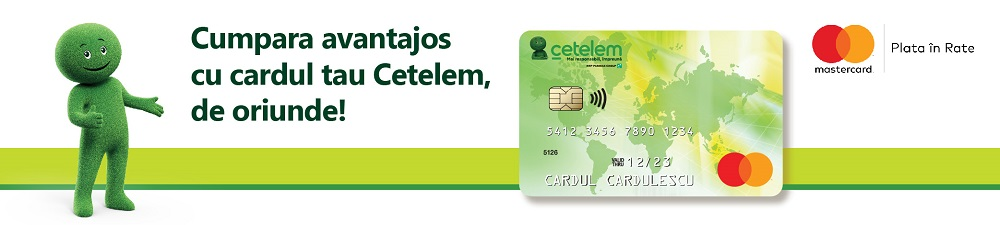 Card de credit Cetelem Mastercard plata in rate